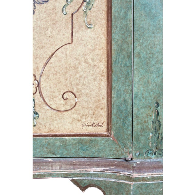 1980s Italian Hand Painted Cabinet For Sale - Image 5 of 10