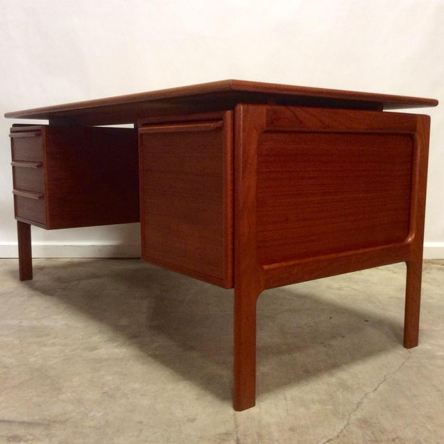 G. V. Gasvig Danish Modern Executive Teak Desk - Image 3 of 7