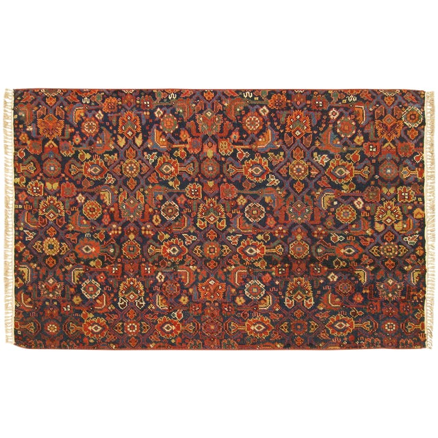 1920s Antique Persian Rug - 4′10″ × 3′ For Sale