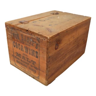 Antique American Boston Coca Wine Bottle Wood Shipping Crate For Sale