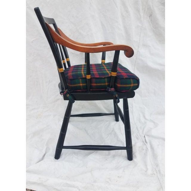 1950s Harvard University Veritas Nichols & Stone Captain's Chair For Sale - Image 5 of 12
