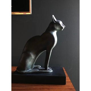 Egyptian Cat Bonded Bronze Sculpture From the Metropolitan Museum of Art Preview