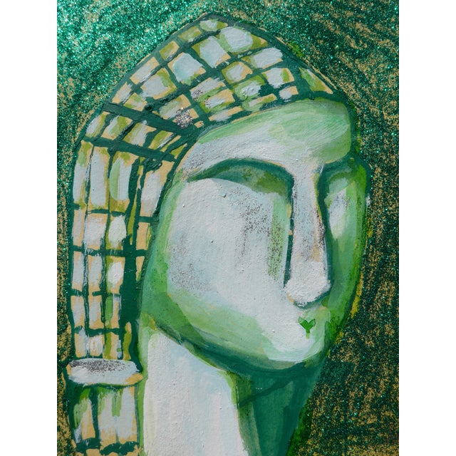 Contemporary Contemporary Drawing, Venus in Green For Sale - Image 3 of 4