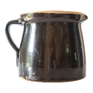 Antique Stoneware Crock Utensil Holder For Sale