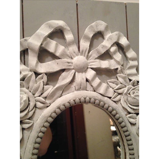 French Style Painted Shabby Chic Mirror For Sale - Image 3 of 6