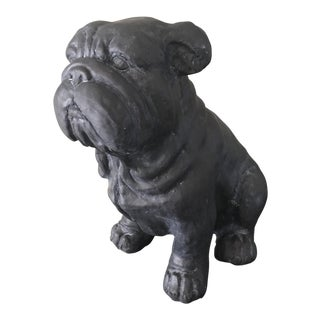 Vintage Outdoor Metal Finish Bulldog