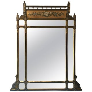 19th Century Hand-Painted English Mirror For Sale