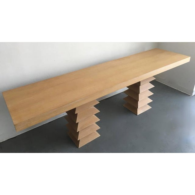 Mid-Century Blonde Console Table - Image 3 of 3