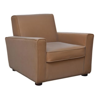 Wesley Club Chair, Brown For Sale