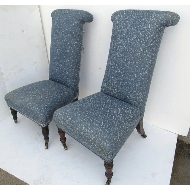 Traditional Prie Dieu Style Chairs- a Pair For Sale - Image 3 of 9