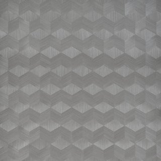 Sample - Schumacher Chevron Inlay Wallpaper in Birch For Sale