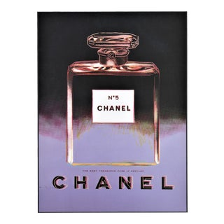 Matted Vintage Chanel No.5 Perfume Print-Andy Warhol For Sale