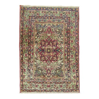 Antique Persian Lavar Kirman Rug, 2'3'' x 3'1''