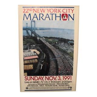 Vintage 22nd New York City Marathon Poster