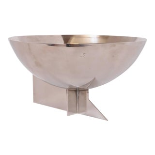 Machine Age Art Deco Signed Desny Silver Plate Centerpiece Bowl For Sale