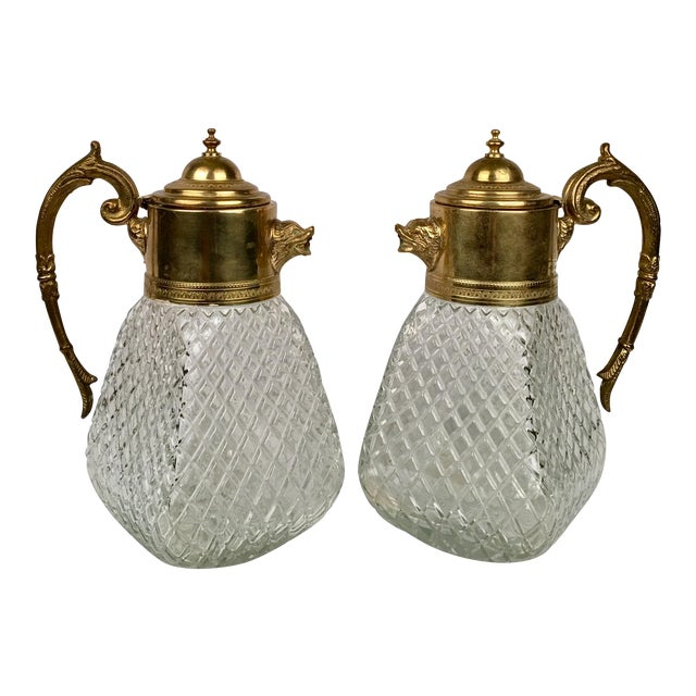 Brass & Crystal Pitcher - Image 5 of 5