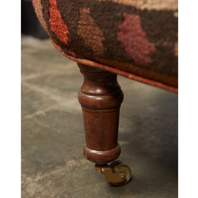 English Kilim Ottoman For Sale In Los Angeles - Image 6 of 6