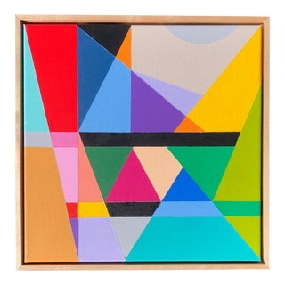 Colorful Modern Abstract Painting by Tony Curry For Sale