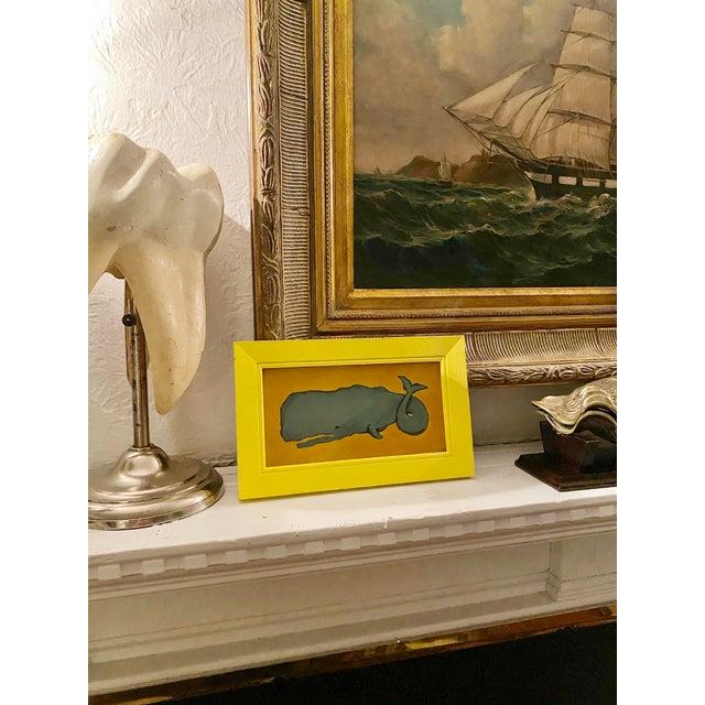 Portraiture Vintage Memo Faraj Whale Nautical Sea Life Painting For Sale - Image 3 of 9