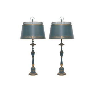 Regency Style Table Lamps - a Pair For Sale