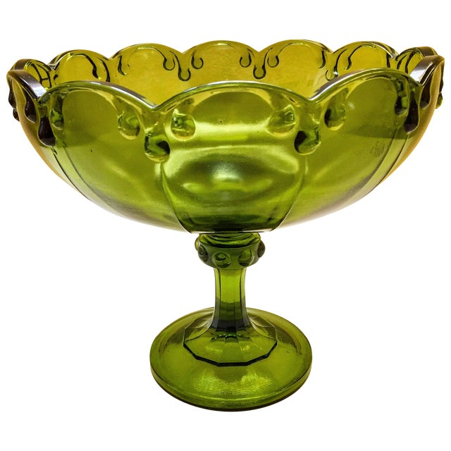 Vintage Green Glass Bowl - Image 1 of 9