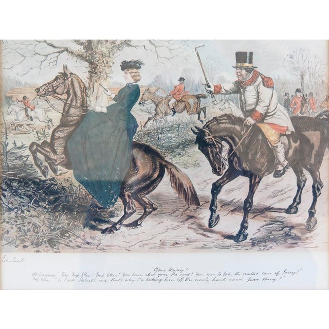 'Gone Away' Fox Hunting Etching - Image 5 of 6