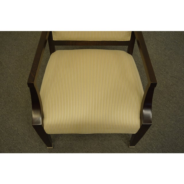 Late 20th Century Vintage Lexington Furniture Nautica Home Collection Upholstered Accent Arm Chair For Sale - Image 5 of 10