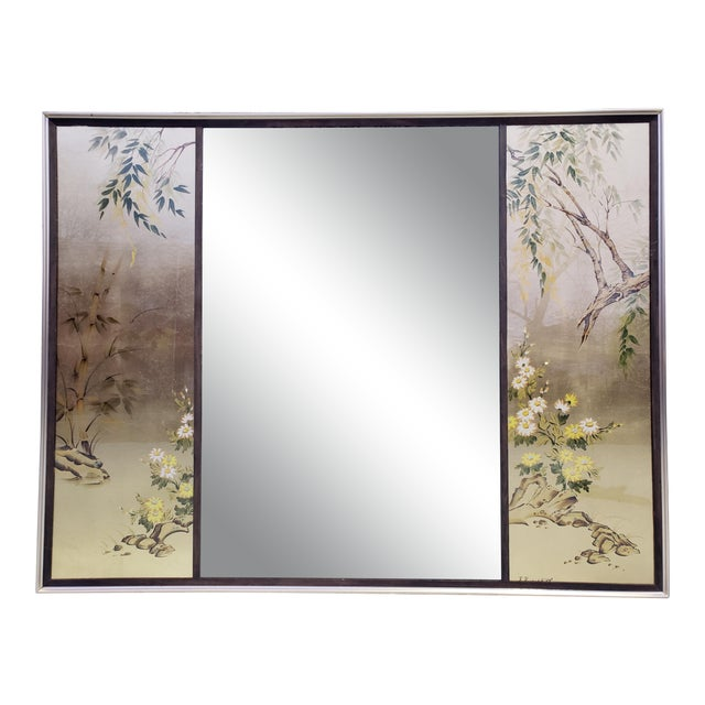 Vintage Labarge Large Chinoiserie Style Mirror For Sale