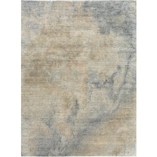 Schumacher Patterson Flynn Martin Cumulae Hand-Knotted Wool Silk Modern Rug - 6' X 9' For Sale