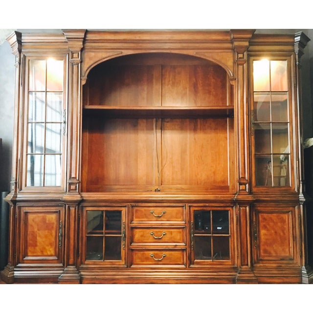 The Cachet Entertainment Unit is comprised of six pieces, as outlined below, that unite to form an ornate, traditional...