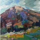 Image of Jose Trujillo Original Landscape Hill Mountain Scenic Atmospheric Oil Painting For Sale