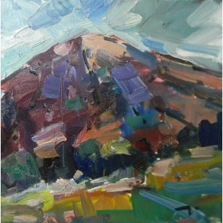 Jose Trujillo Original Landscape Hill Mountain Scenic Atmospheric Oil Painting For Sale