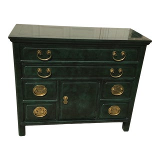 Vintage Henredon Green Machalite Stone Style Commode/Chest of Drawers/Sideboard Cabinet/ Commode Chest For Sale