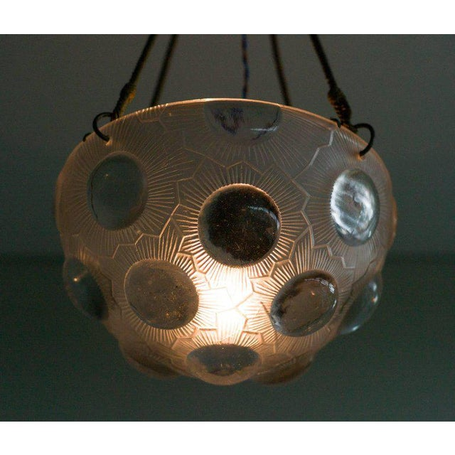 Traditional Lalique Soleil Chandelier, No. 2466 For Sale - Image 3 of 7