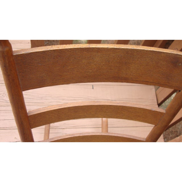 Antique 18th C. Early American Ladderback Rocker Chair For Sale - Image 11 of 11