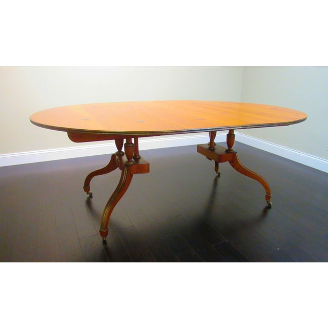 Baker 2 Leaf Dining Table - Image 5 of 6