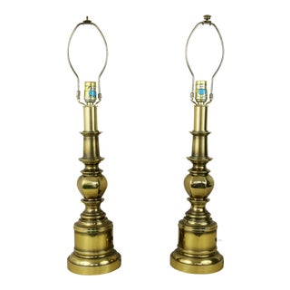Vintage Stiffel Brass Table Lamps - A Pair