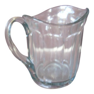 Vintage Classic Blue Glass Pitcher For Sale