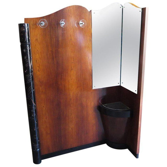 Brown Art Deco Entry Hall Tree With Mirrors and Umbrella Stand For Sale - Image 8 of 8