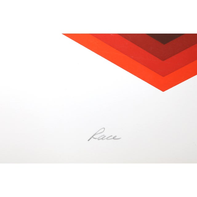 Frank Rowland, Race, Abstract Op Art Screenprint For Sale In New York - Image 6 of 7