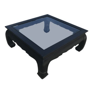 Chinoiserie Black Wood Coffee Table