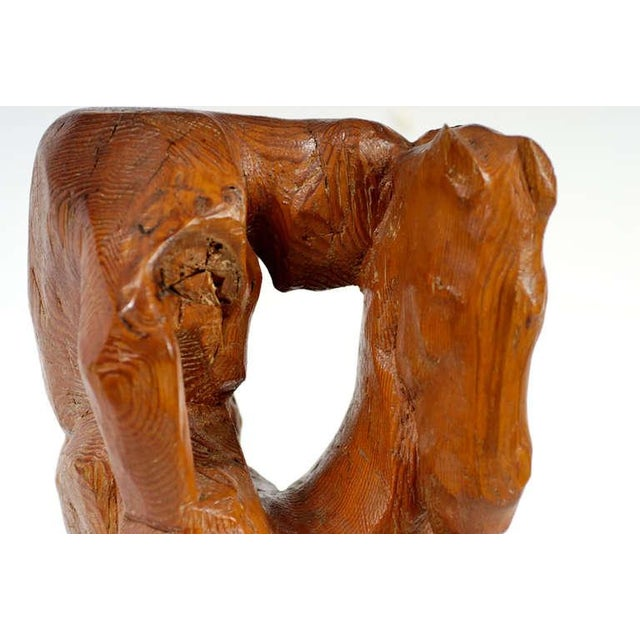 """""""Horse & Weary Rider"""" Large Abstract Carved Wood Sculpture For Sale In Chicago - Image 6 of 7"""