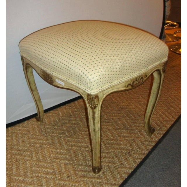 French Carved and Painted Stools with Gilt - A Pair For Sale In New York - Image 6 of 8