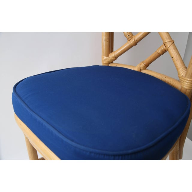 Set of Four Bamboo Side Chairs For Sale - Image 9 of 13