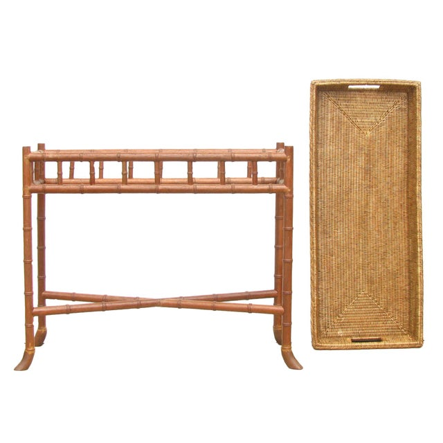 Wisteria Bamboo/Basket Console - Image 6 of 6