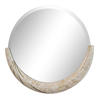 Maitland Smith Style Tessellated Stone & Brass Wall Mirror For Sale