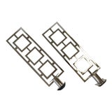 Image of Modern Chrome Wall Sconces - a Pair For Sale
