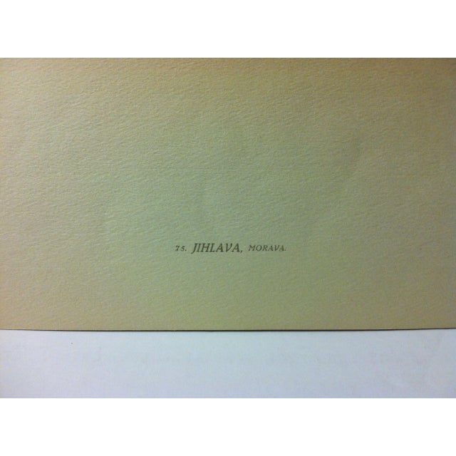 "Realism Vintage Mounted Czechoslovakian Color Print, ""Jihlaua - Morava"" For Sale - Image 3 of 4"