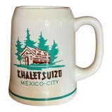 Image of Chalet Suizo Mexico City Mug, Vintage Tourist Souvenir For Sale