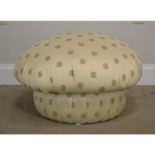 Postmodern Custom Upholstered Pair Mushroom Pouf Ottomans After Karl Springer For Sale - Image 11 of 13